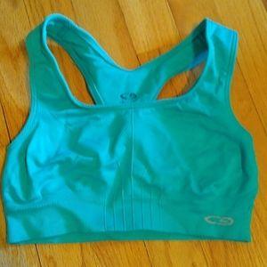 Turquoise sports bra
